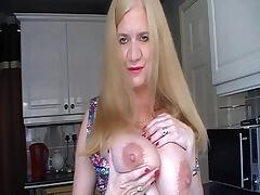 Hi Guys, I am in my kitchen here today and talking to you about my big 34F tits. I know what you would really love to do...